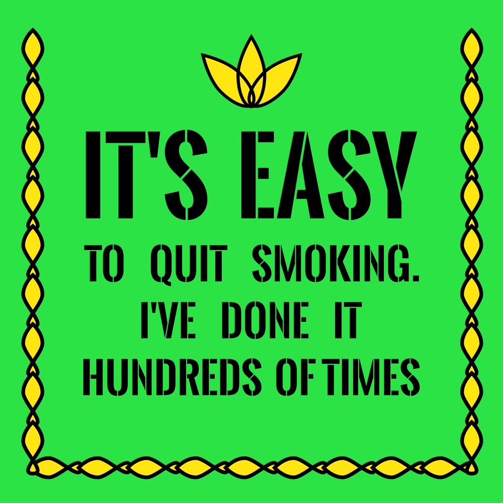 easy to quit smoking poster